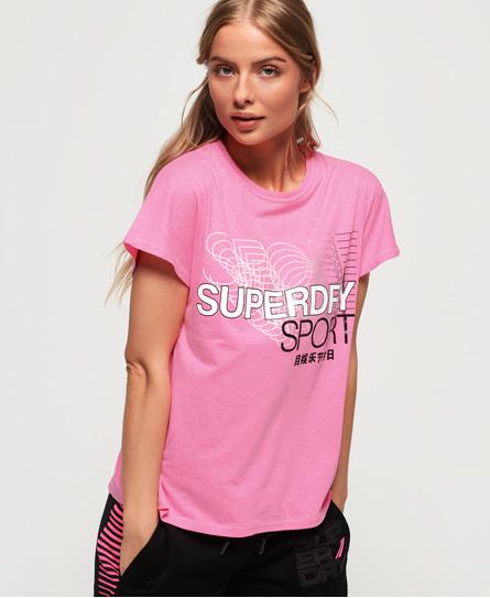 Superdry Superdry Core T-shirt med slids i ryggen