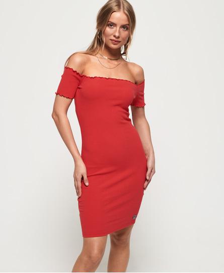 Superdry Superdry Harper Bardot kjole