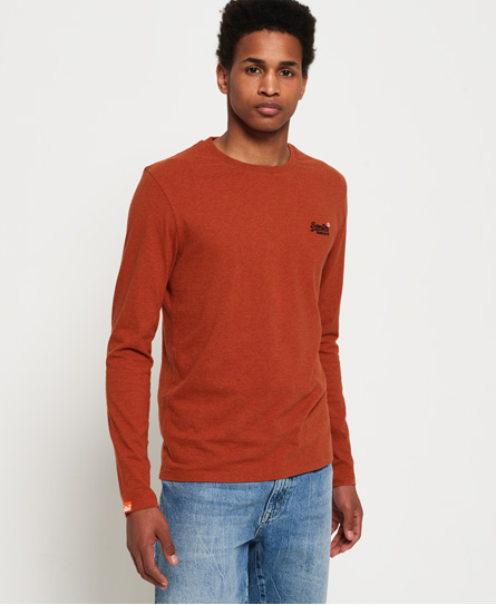 Superdry Superdry Orange Label Vintage top med broderi og lange ærmer