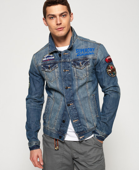 Superdry Superdry SD Rogue trucker-jakke med mærker