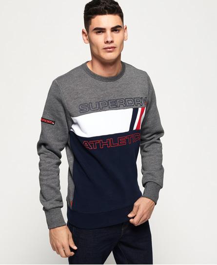 Superdry Superdry Trophy Tri Line sweatshirt med rund hals
