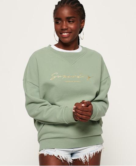 Superdry Superdry Løstsiddende Jade sweatshirt med rund hals
