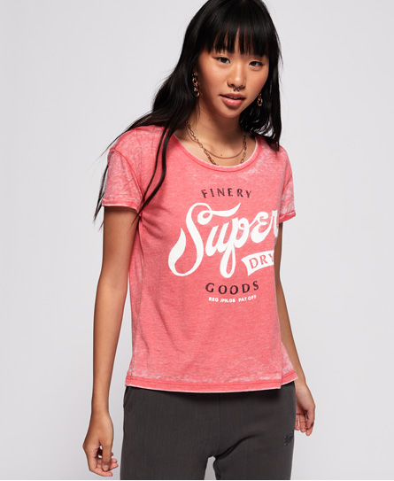 Superdry Finery Goods London T Shirt In Rot | ModeSens