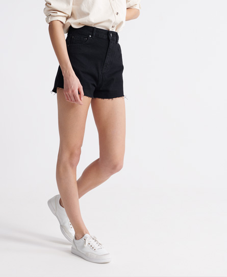Superdry Ruby Cut Off Shorts In Black