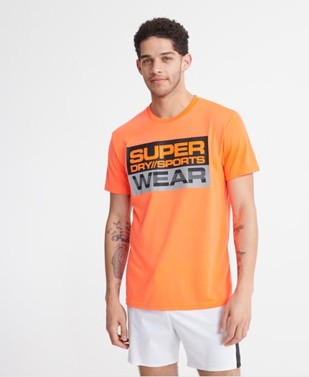 Superdry Streetsport T-shirt Mit Grafik In Orange