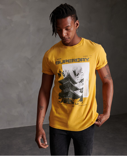 Superdry Japan Code T-shirt In Yellow
