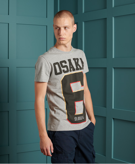 Superdry Osaka T-shirt In Gray