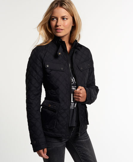 Womens - Apex Quilted Jacket in Black | Superdry