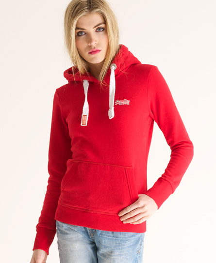 Superdry Orange Label Hoodie Red