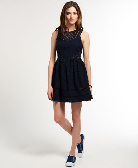 Superdry Panel Lace Skater Dress