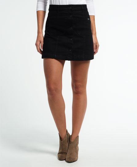 Womens - A-Line Denim Mini Skirt in Surf Wash | Superdry