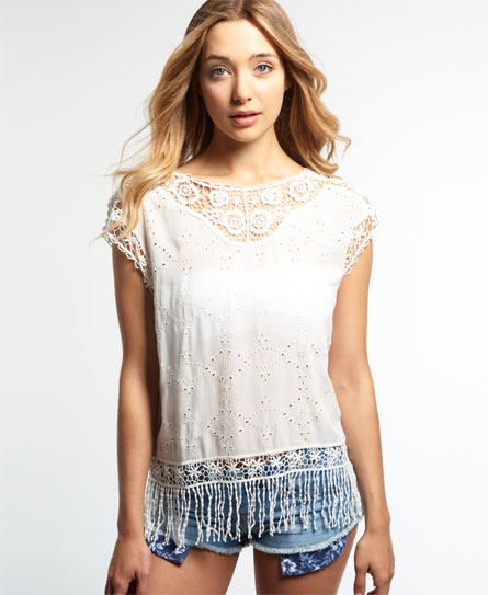 Superdry Superdry Lacy Schiffli Cape top