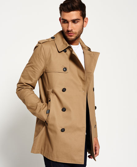 tabacco Superdry Winter Rogue Trench Coat