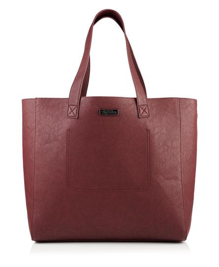 plum Superdry Elaina Tote Bag
