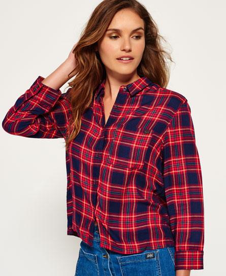 Superdry Tartan Cropped Shirt - Women's Shirts