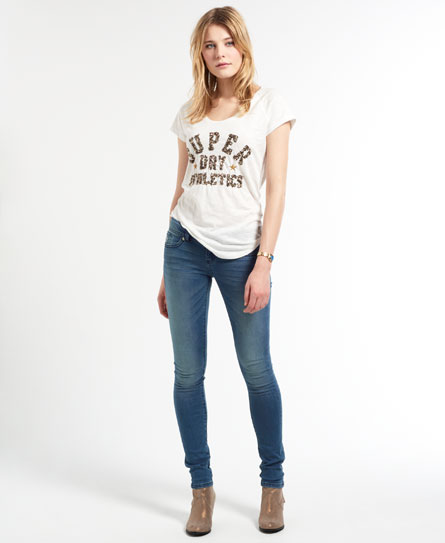 Superdry Super Skinny Jeans Blue - Womens - Super Skinny Jeans In Sapphire Blue Superdry