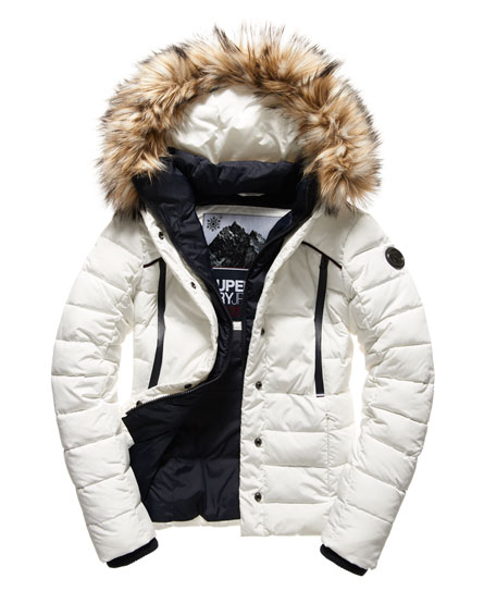 superdry veste de motard glacier vestes et manteaux pour femme. Black Bedroom Furniture Sets. Home Design Ideas