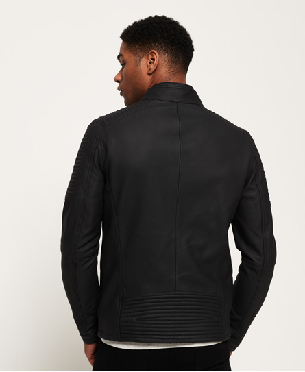 Superdry Premium Leather Racer Jacket