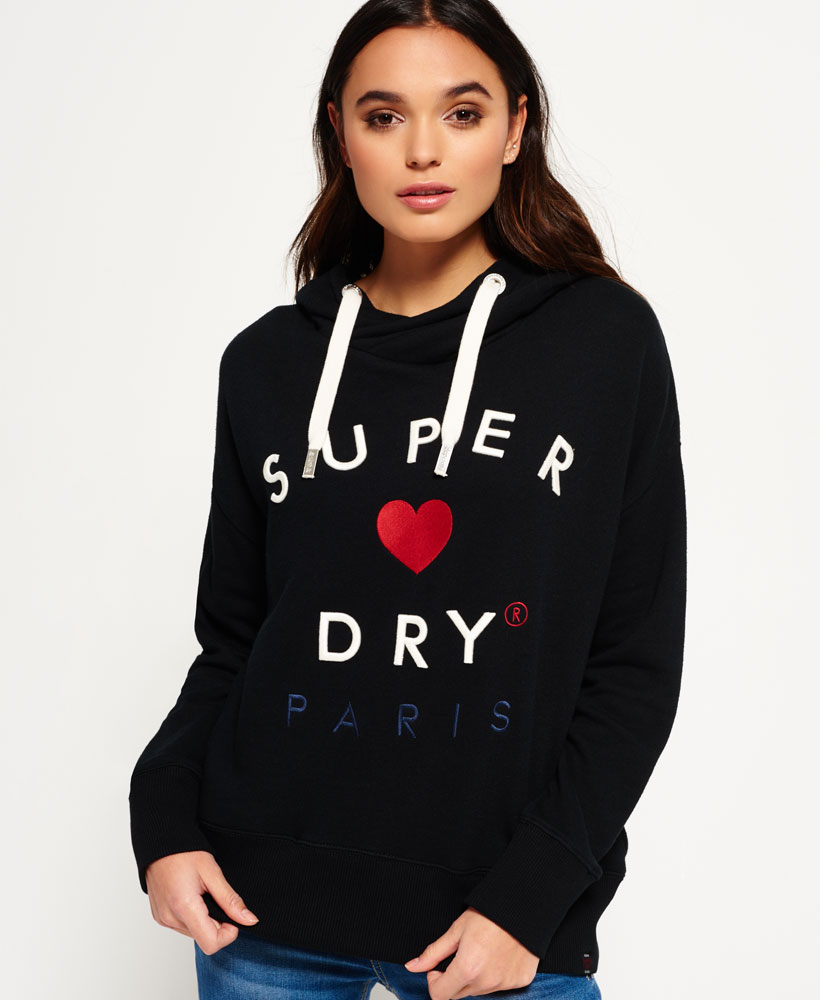 Product photo of Superdry applique slouch hoodie