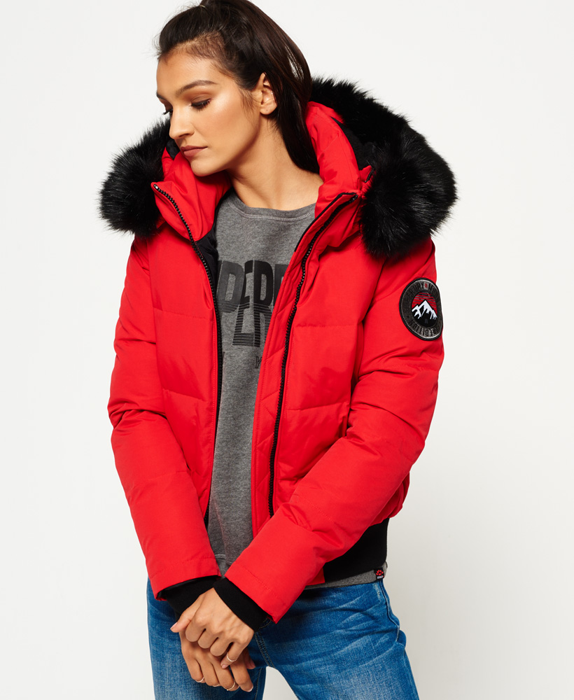 superdry everest ella bomber jacket bluewater. Black Bedroom Furniture Sets. Home Design Ideas