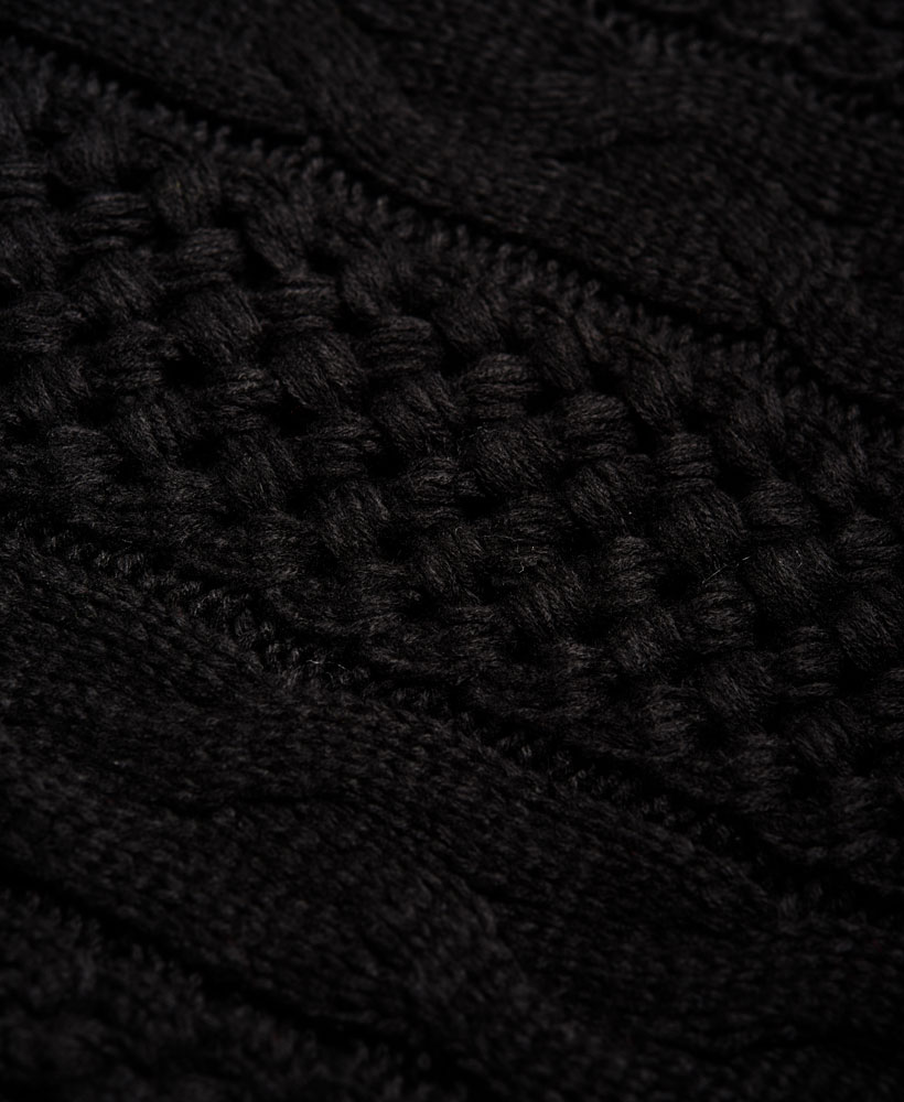 Superdry-North-Cable-Scarf thumbnail 5
