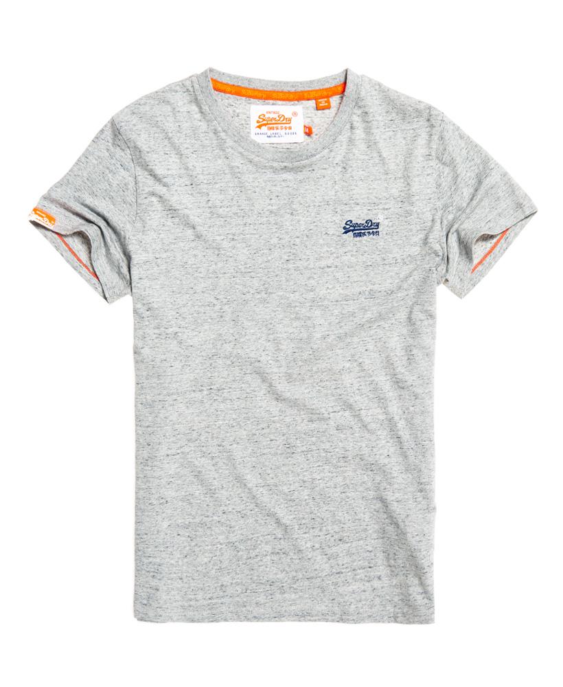 Superdry orange label vintage embroidery t shirt