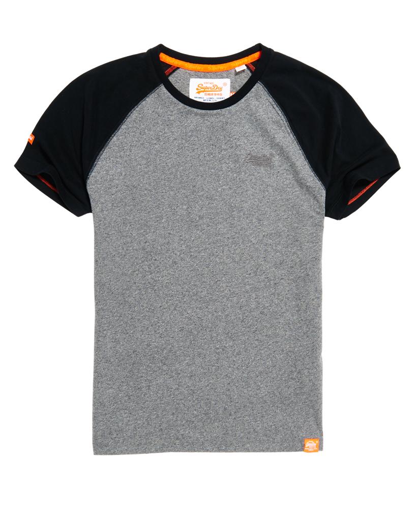 Artikel klicken und genauer betrachten! - Superdry Orange Label Baseball T-Shirt, grau, in der Farbegrau hergestellt aus Material: Baumwolle 100%; erhältlich im Offiziellen Superdry - Shop bestellen, kostenloser Versand. Die aktuelle Mode für male in Kleidung, Accessoires und Taschen findest Du hier!. | im Online Shop kaufen