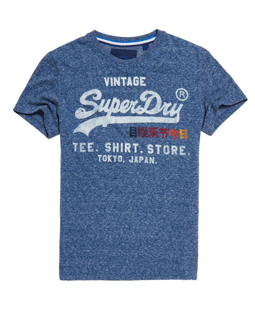 Artikel klicken und genauer betrachten! - Superdry Shirt Shop Surf T-Shirt, blau, in der Farbeblau hergestellt aus Material: Polyester 50%;Baumwolle 50%; erhältlich im Offiziellen Superdry - Shop bestellen, kostenloser Versand. Die aktuelle Mode für male in Kleidung, Accessoires und Taschen findest Du hier!. | im Online Shop kaufen