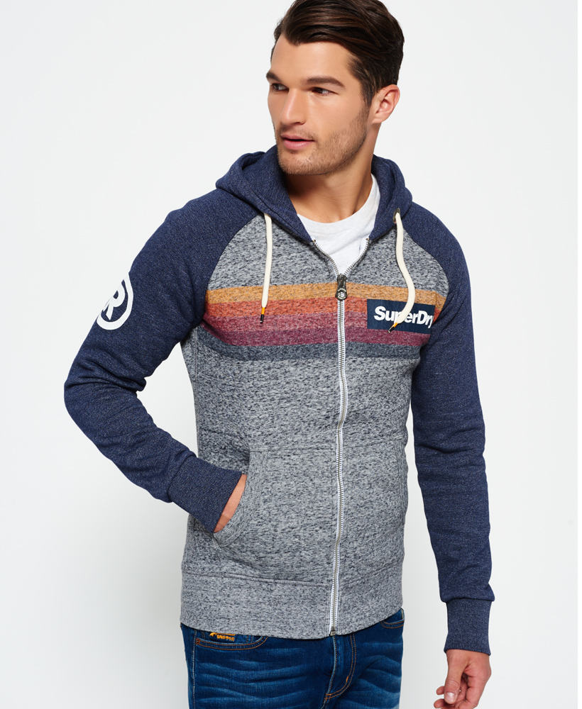 Product photo of Superdry super 77 surf raglan zip hoodie