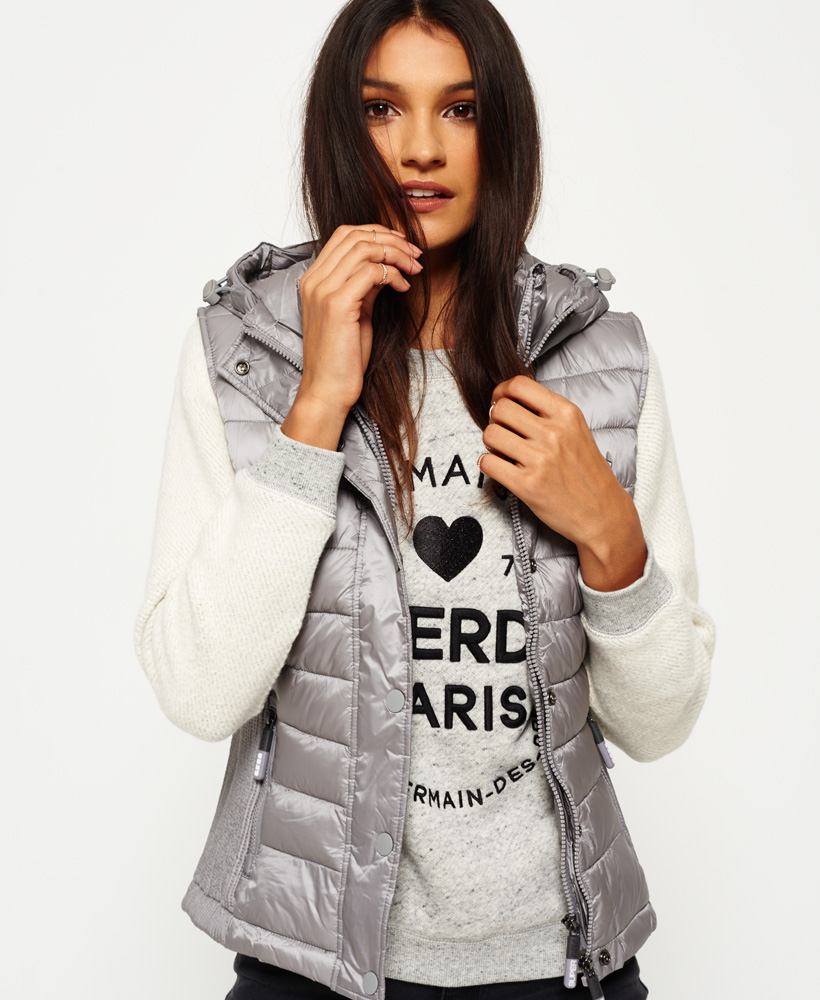 Details about Superdry Luxe Fuji Double Zip Vest