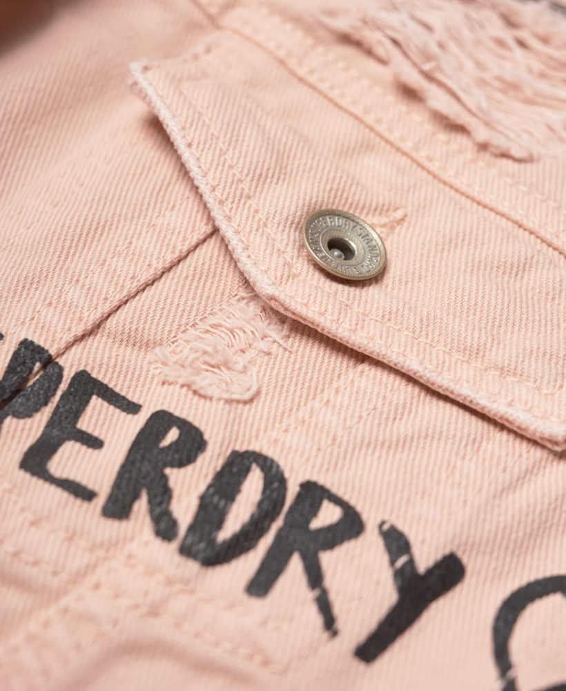 New Womens Superdry Girlfriend Jacket Skate Splash