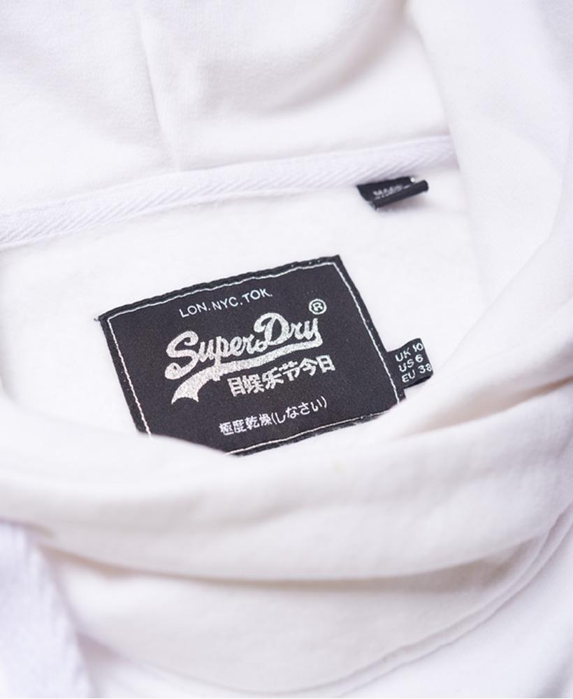 Superdry Luxury Embossed Foil Crop Hoodie | eBay