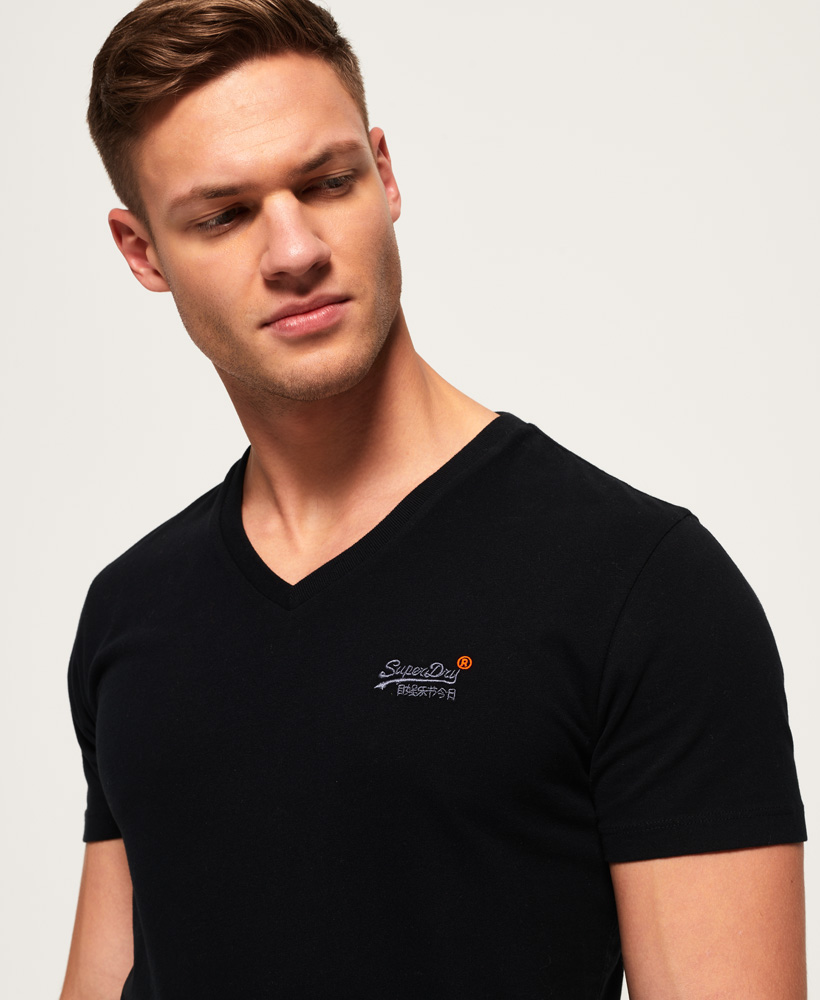 thumbnail 10 - Superdry Mens Orange Label Vintage Embroidery V-Neck T-Shirt