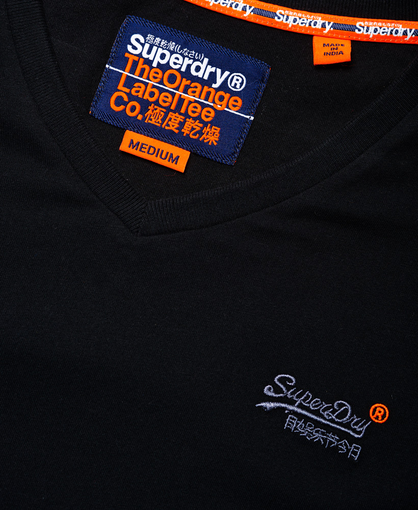 thumbnail 11 - Superdry Mens Orange Label Vintage Embroidery V-Neck T-Shirt