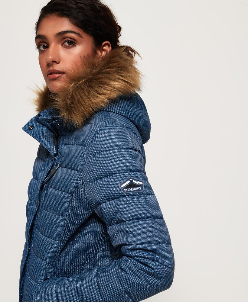 Superdry-Womens-Fuji-Slim-Double-Zip-Hooded-Jacket thumbnail 65