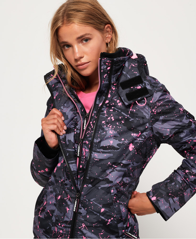 Superdry-Arctic-Hooded-Print-Pop-Zip-SD-Windcheater-Jacket miniatuur 5
