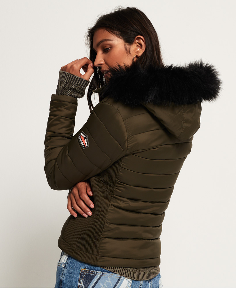 Superdry-Womens-Fuji-Slim-Double-Zip-Hooded-Jacket thumbnail 78