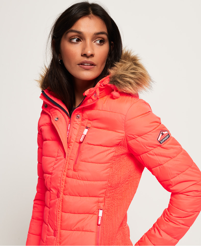 Superdry-Womens-Fuji-Slim-Double-Zip-Hooded-Jacket thumbnail 18