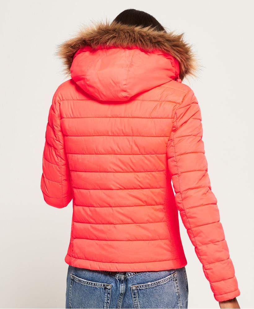 Superdry-Womens-Fuji-Slim-Double-Zip-Hooded-Jacket thumbnail 17