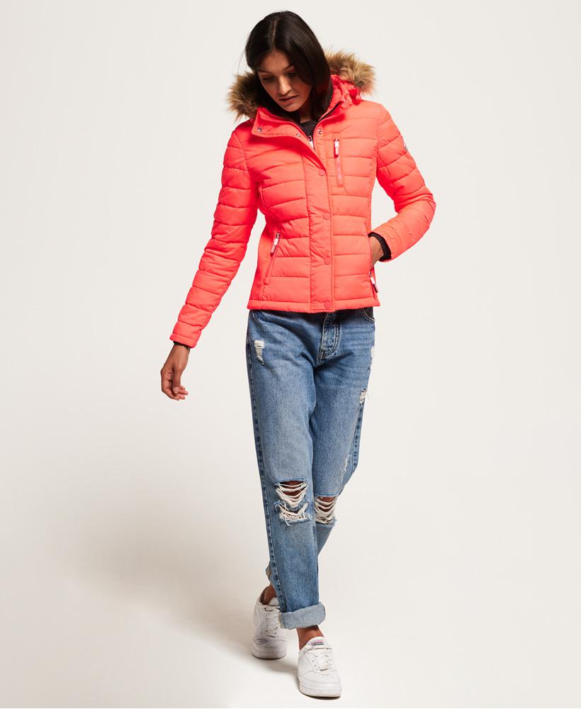 Superdry-Womens-Fuji-Slim-Double-Zip-Hooded-Jacket thumbnail 16