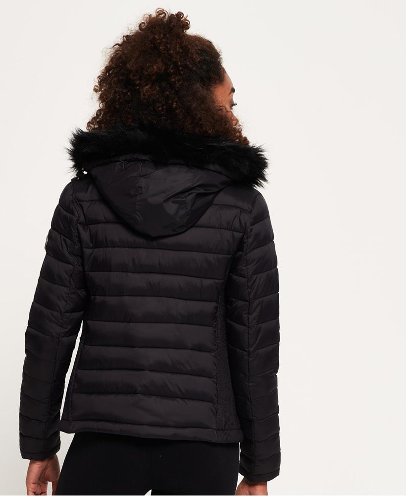 Superdry-Womens-Fuji-Slim-Double-Zip-Hooded-Jacket thumbnail 10