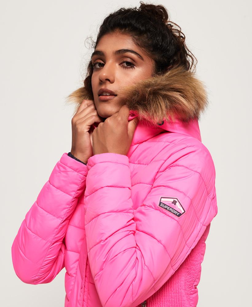Superdry-Womens-Fuji-Slim-Double-Zip-Hooded-Jacket thumbnail 113