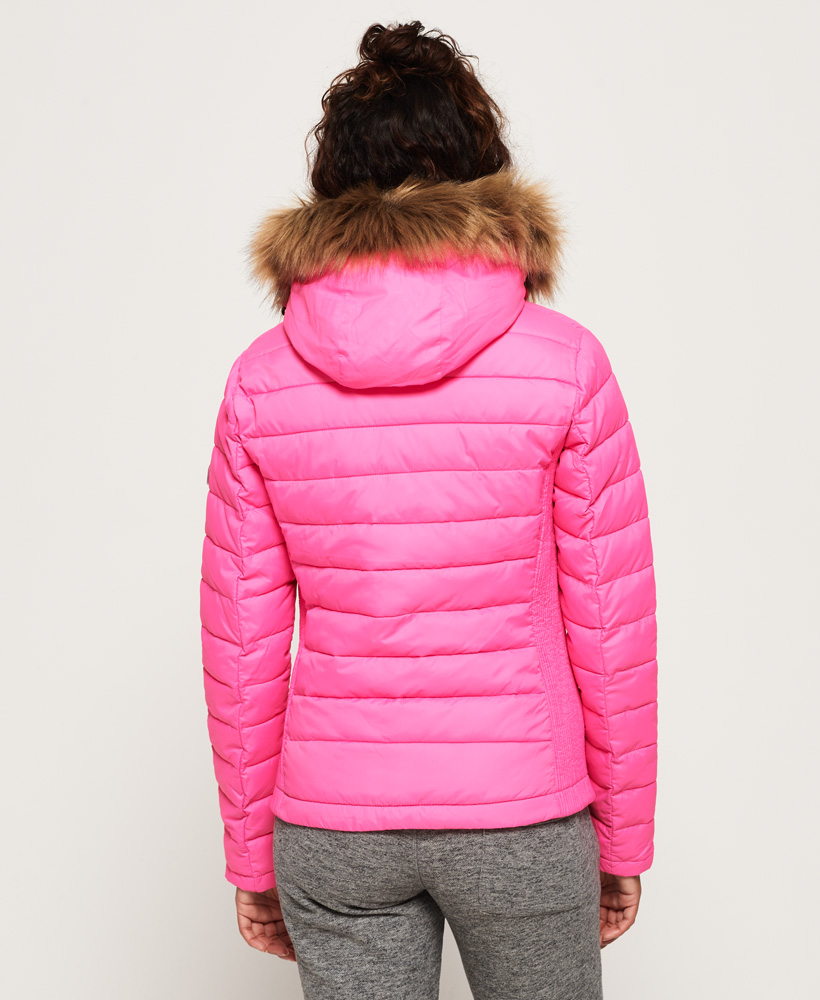 Superdry-Womens-Fuji-Slim-Double-Zip-Hooded-Jacket thumbnail 112