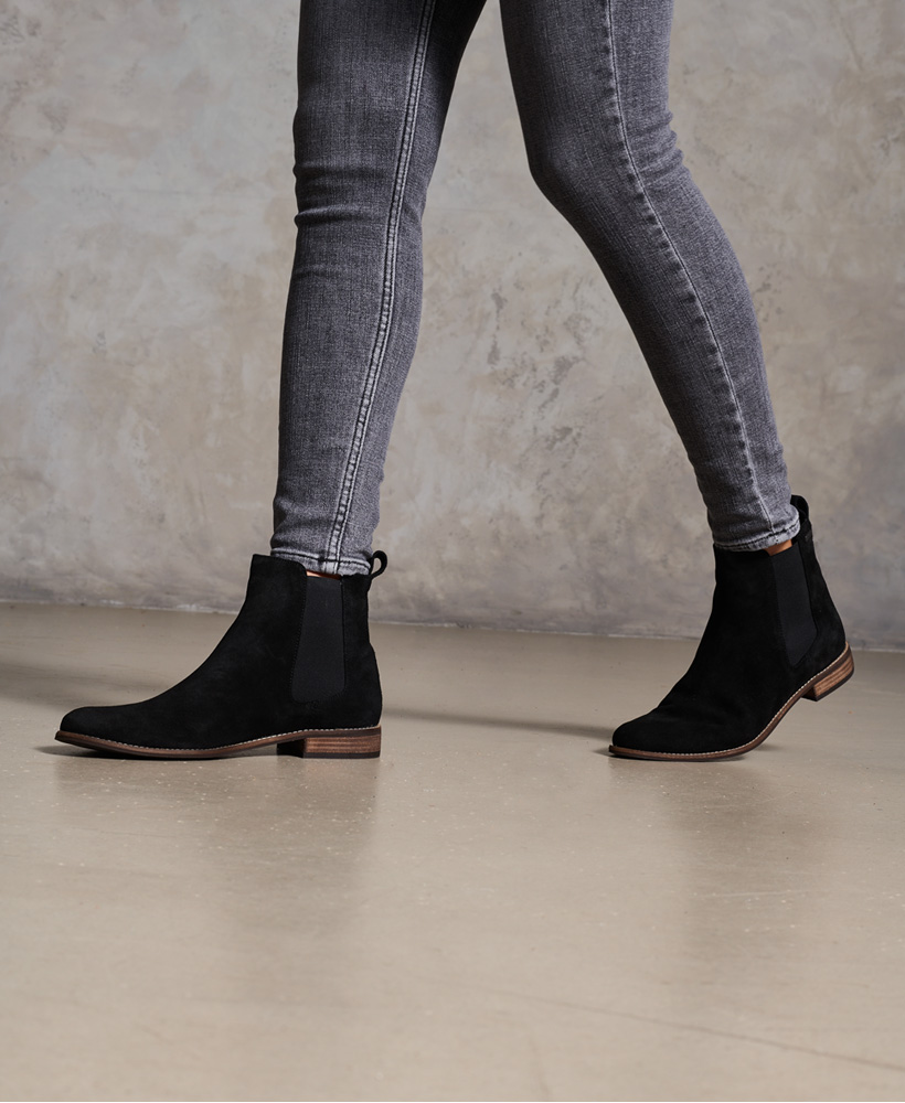 Superdry-Womens-Millie-Lou-Suede-Chelsea-Boots thumbnail 10
