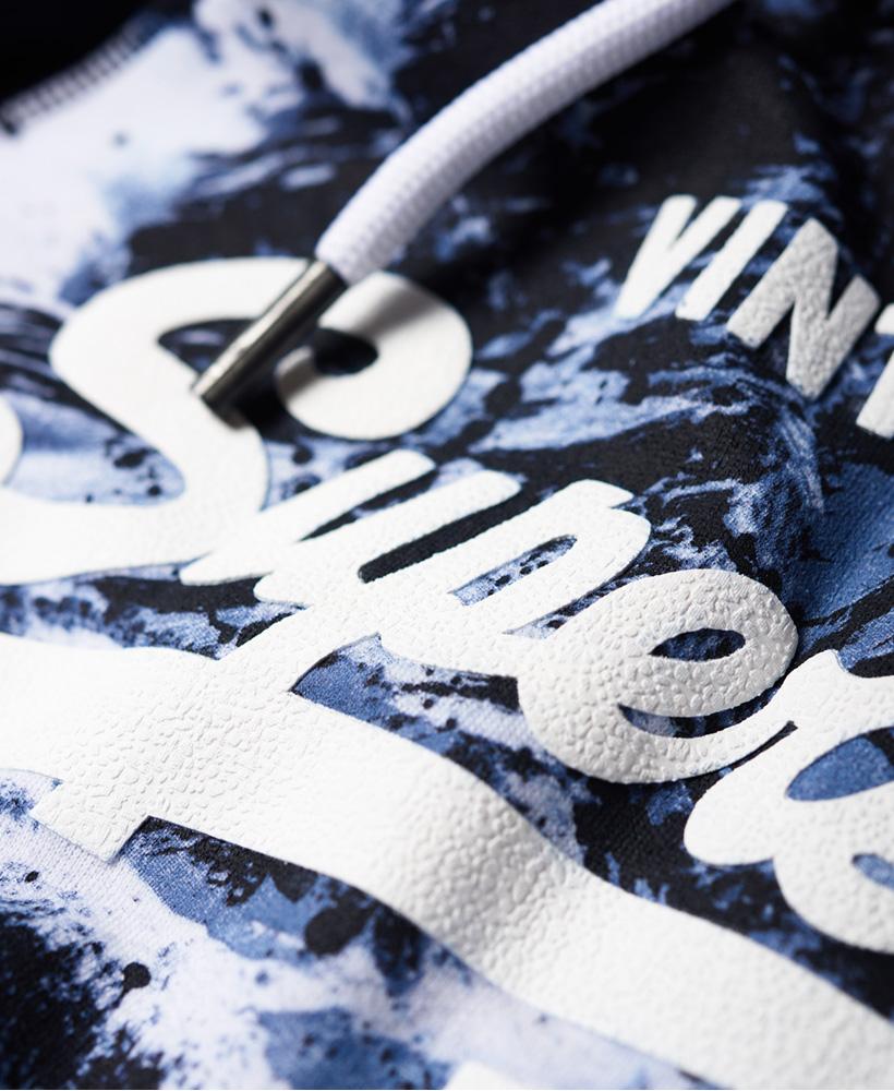 Neuer Herren Superdry Sweat Shirt Shop Hoodie mit Raglanärmeln und Tarnmuster Mo