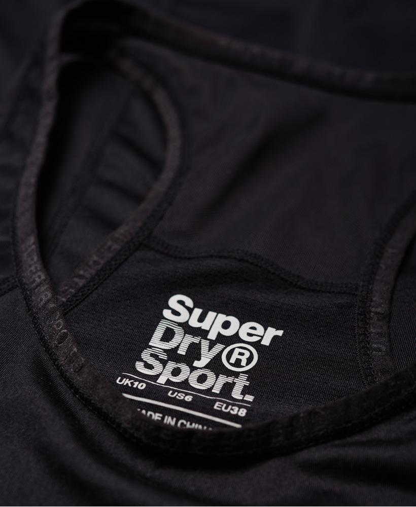 Superdry Damen Tailliertes Core Tanktop Mit Netzeinsatz