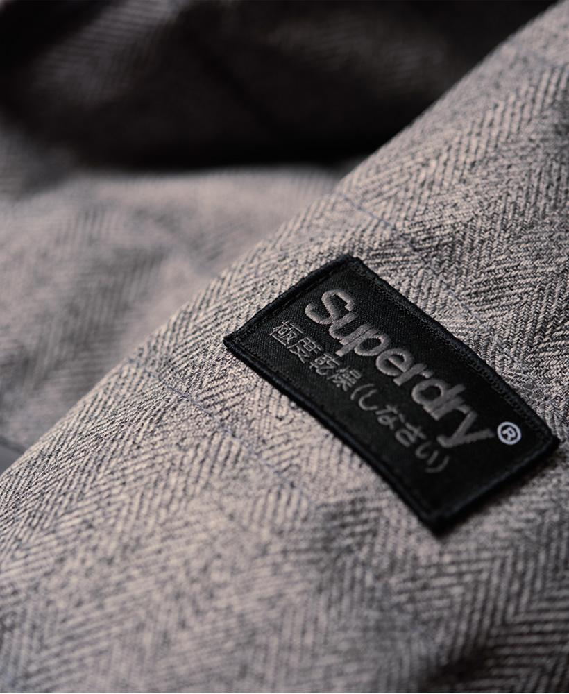 Détails sur Homme Superdry Tweed Mix Chevron Fuji Veste afficher le titre d'origine