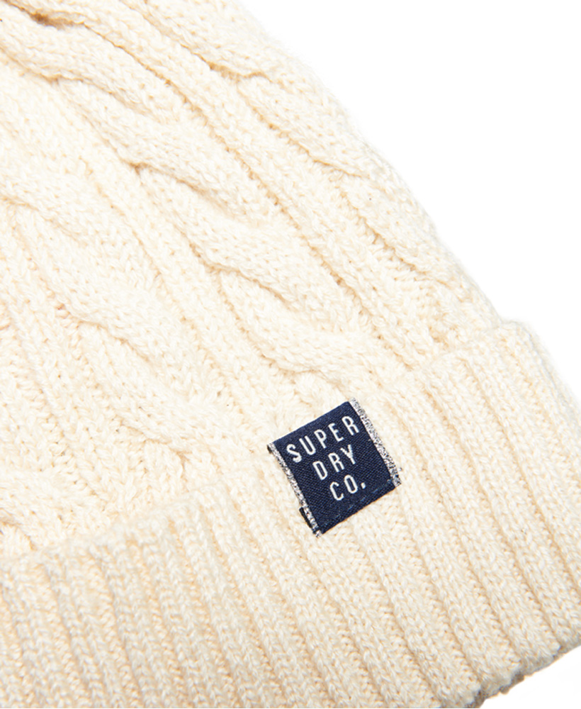 Superdry Womens Croyde Cable Beanie Size 1Size