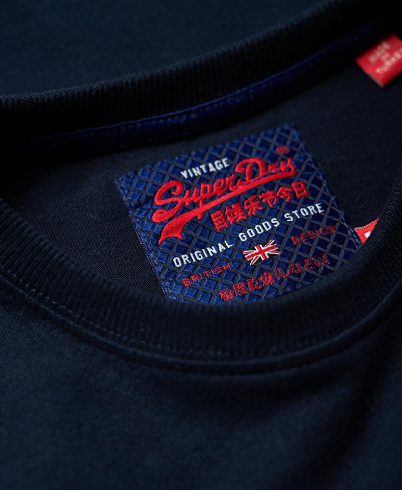 PANNELLO Superdry Vintage Logo T-Shirt Blu Navy Camicia A8M