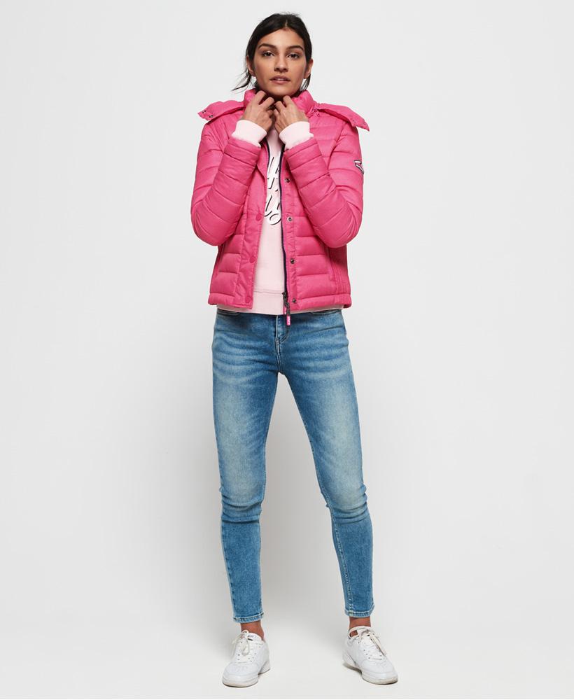 Superdry-Womens-Fuji-Slim-Double-Zip-Hooded-Jacket thumbnail 98